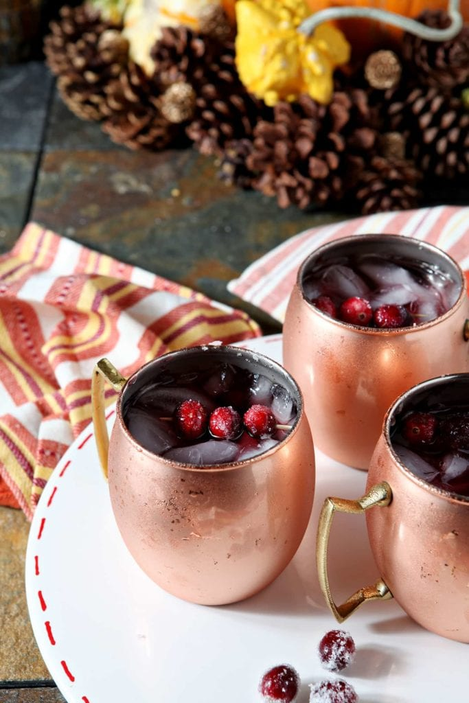 Image of cranberry mule cocktails