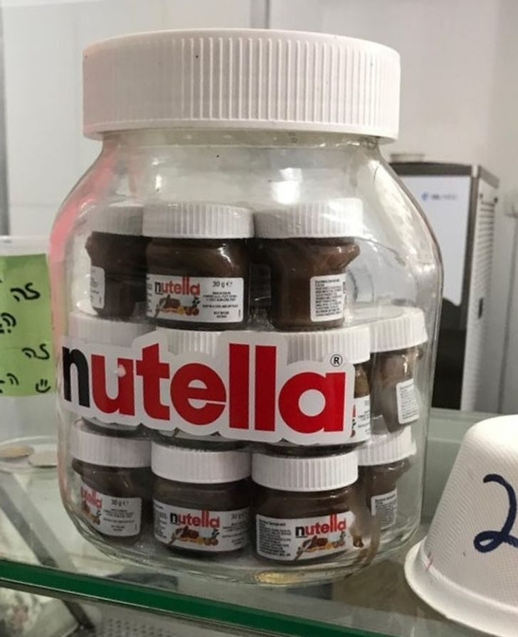 Pots of Nutella