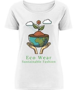 Women's Open Neck Sustainable Fashion Eco Wear