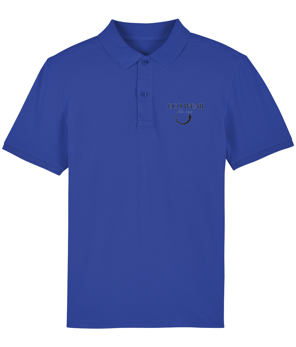 Embroidered High Quality Men's Organic Polo - eco-wear-ltd