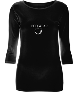 Women's 3/4 Sleeve Stretch T-Shirt - eco-wear-ltd
