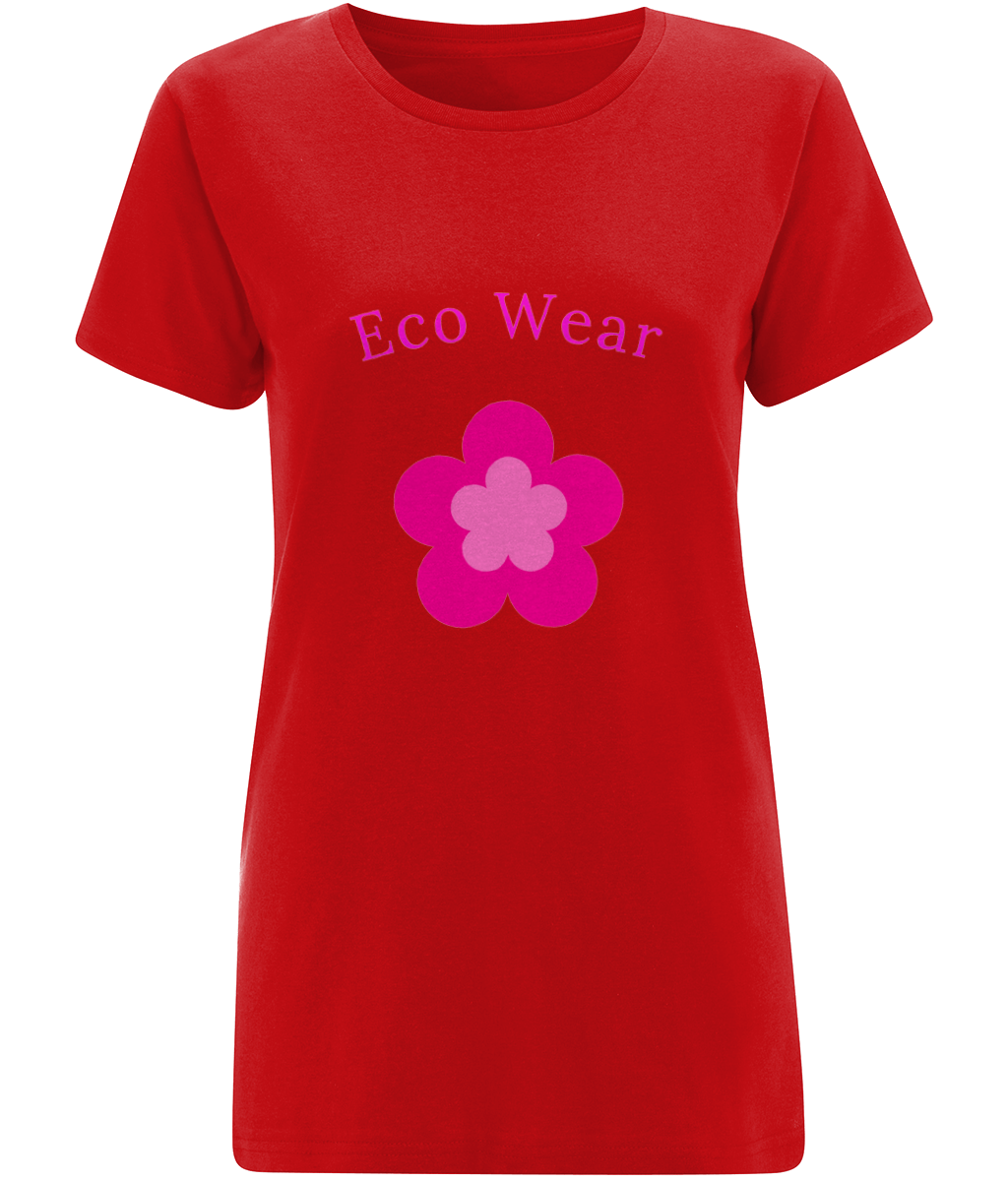 Women's Organic Flower T-Shirt - eco-wear-ltd