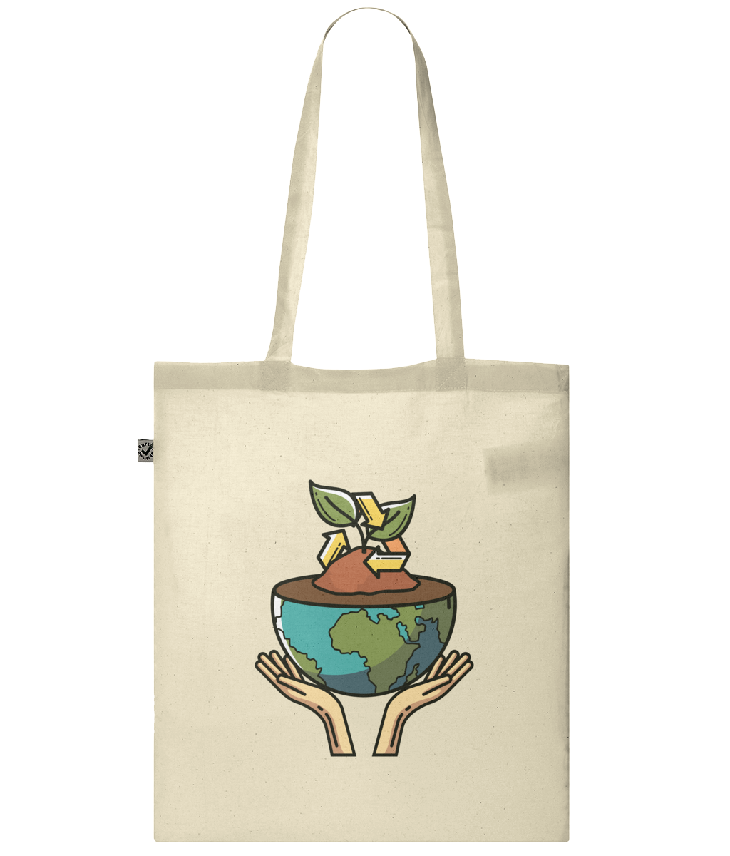 Organic Classic Shopper Tote Bag - eco-wear-ltd