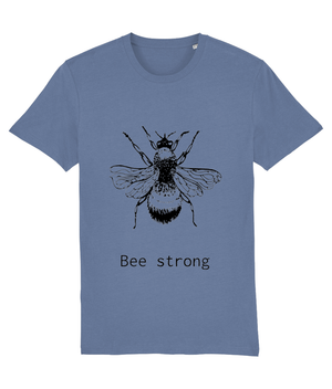 Organic T-Shirt Bumblebee Bee strong - eco-wear-ltd