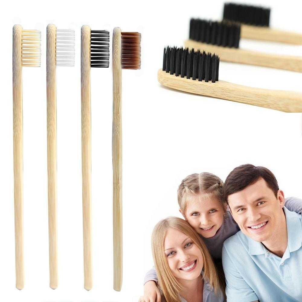 4PCS Environmental Friendly Bamboo Toothbrush - eco-wear-ltd