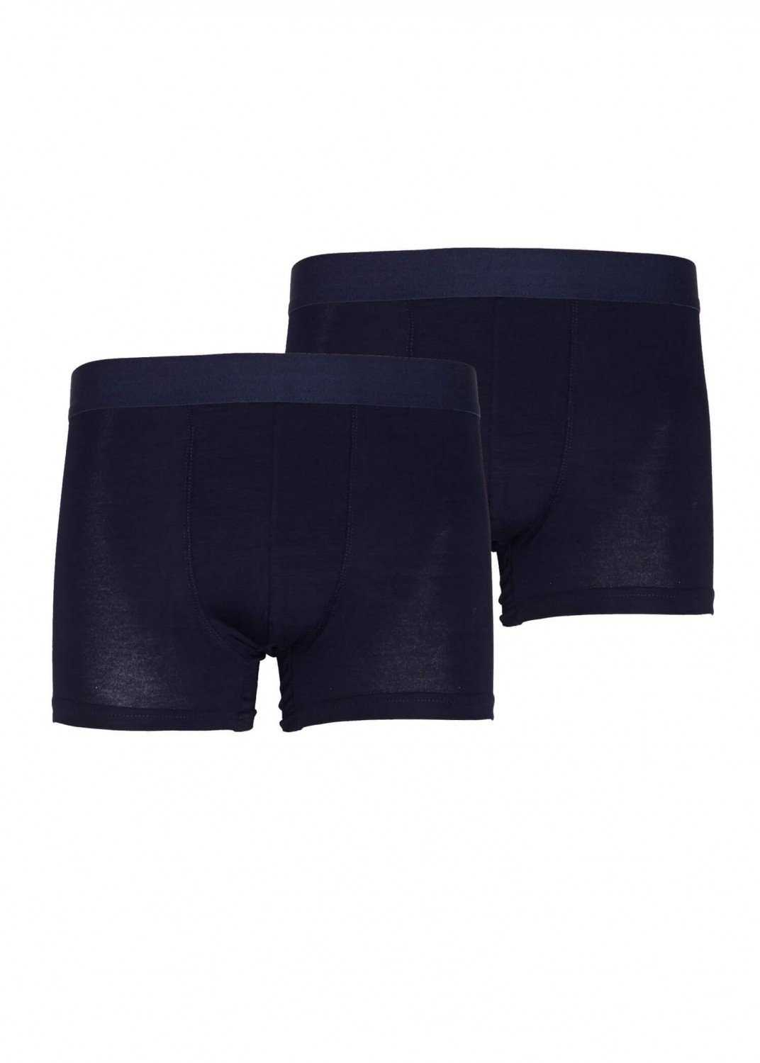 Men's 2 Pairs of Navy Blue Bamboo Boxers - eco-wear-ltd