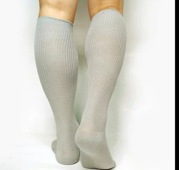 BV Light Grey OTC Socks - BV Creative Shop