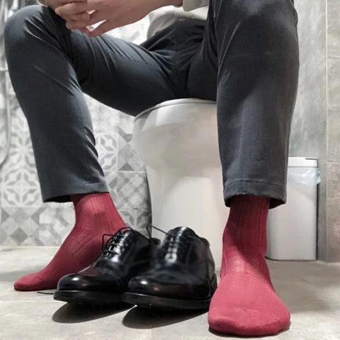 BV Red Sheer Socks - Ben Valiant Shop