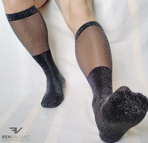 BV Glitter Male OTC Socks - Ben Valiant Shop