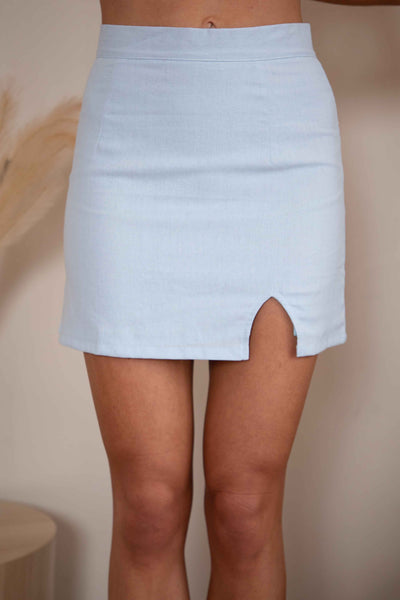 ON YOU SKIRT - BABY BLUE