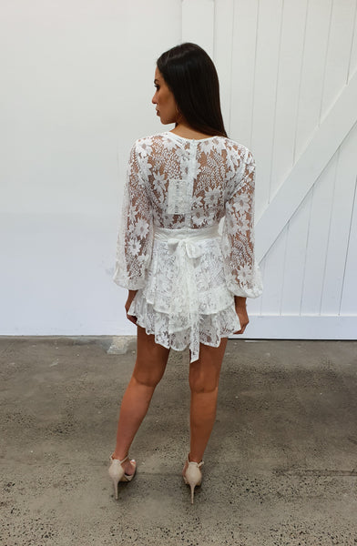 NEVER LAND PLAYSUIT - WHITE