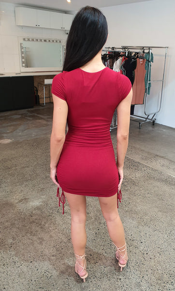 Got The Love Dress - Maroon