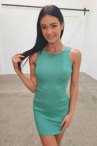 JESKO DRESS - APPLE GREEN