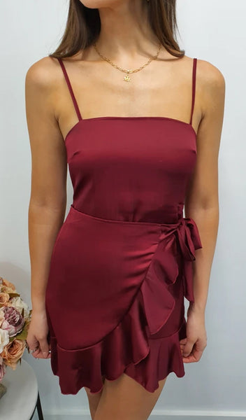 Izzy Dress - Maroon