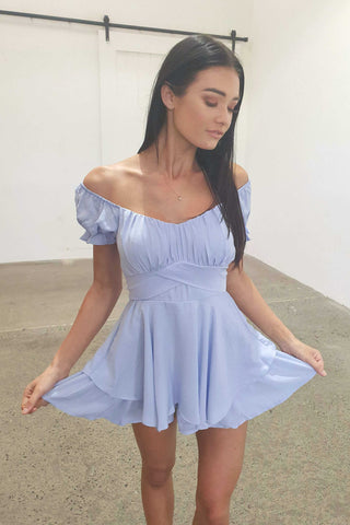BRITTNEY PLAY SUIT - BABY BLUE