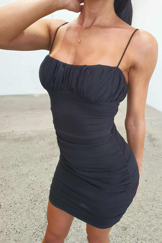 PEACHY DRESS - BLACK