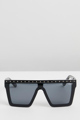 QUAY SUNGLASSES HIND SIGHT (BLACK GOLD STUD)