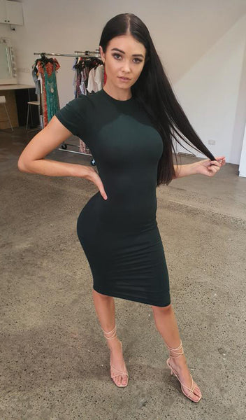 The T-Shirt Dress - Dark Green