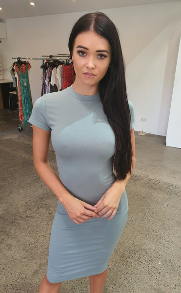 The T-Shirt Dress - Sage Green