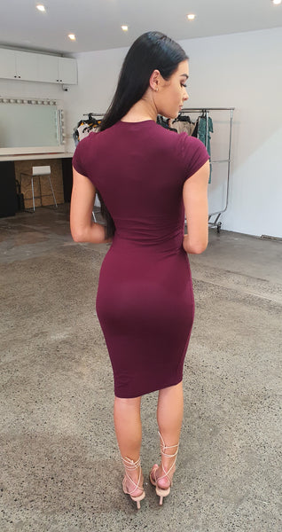 The T-Shirt Dress - Maroon