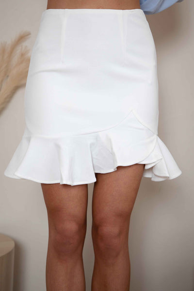 GIMMIE MORE SKIRT - WHITE