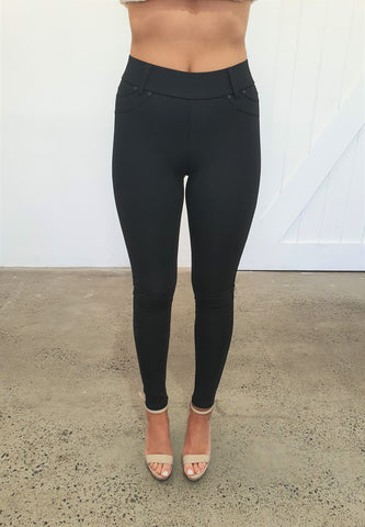 MARSI PONTE PANTS  - BLACK