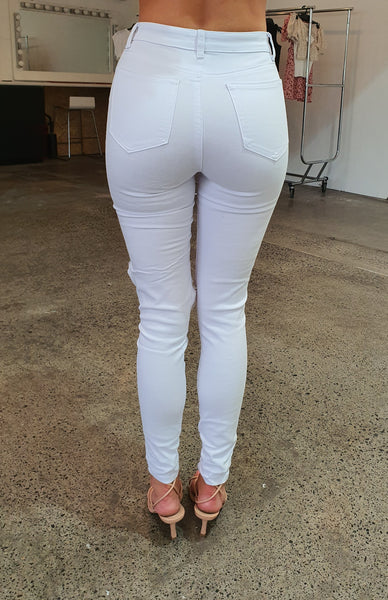 Honey Jean - White Denim