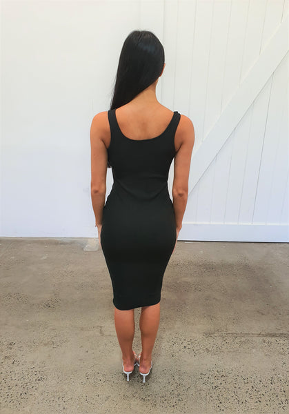 PUSH AND SHOVE DRESS - BLACK