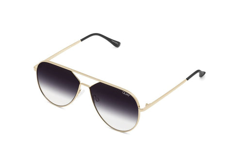 QUAY SUNGLASSES HOLD PLEASE (GOLD FADE)