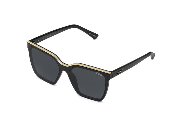 QUAY SUNGLASSES LEVEL UP (BLACK GOLD SMOKE)