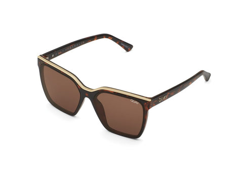 QUAY SUNGLASSES LEVEL UP (TORT GOLD/BROWN)