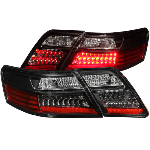 ANZO 2007-2009 Toyota Camry LED Taillights Black - 321163
