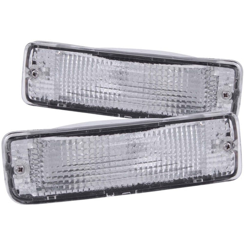 ANZO 1989-1995 Toyota Pickup Euro Parking Lights Chrome w/ Amber Reflector - 511019