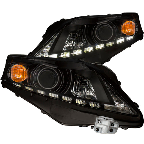 ANZO 2010-2012 Lexus Rx350 Projector Headlights w/ U-Bar Black - 111322