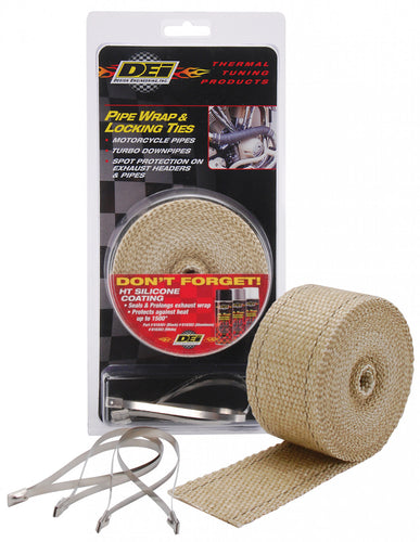 Design Engineering Tan Pipe Wrap and Locking Tie Kit