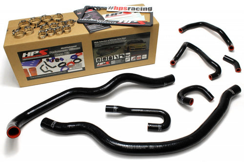 HPS Honda 06-09 S2000 High Temp Reinforced Silicone Radiator and Heater Hose Kit Coolant OEM Replacement - Black