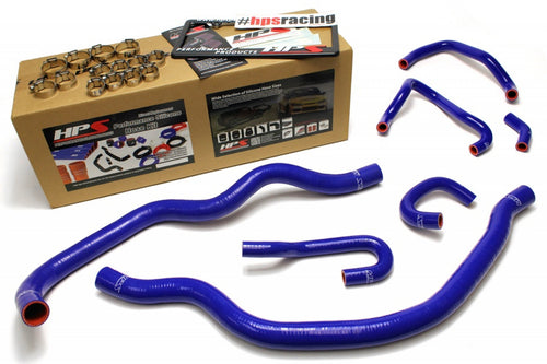 HPS Honda 06-09 S2000 High Temp Reinforced Silicone Radiator and Heater Hose Kit Coolant OEM Replacement - Blue