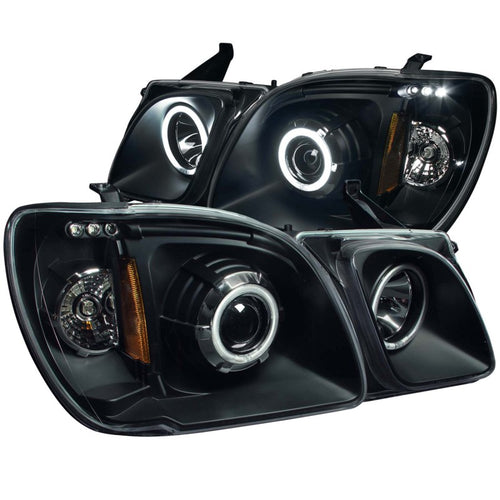 ANZO 1998-2007 Lexus Lx470 Projector Headlights w/ Halo Black (CCFL) - 111170
