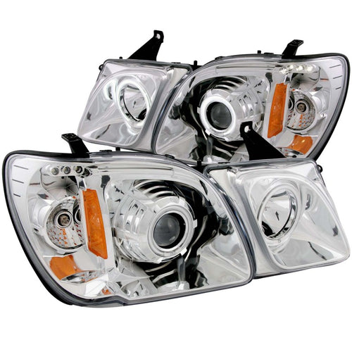 ANZO 1998-2007 Lexus Lx470 Projector Headlights w/ Halo Chrome (CCFL) - 111169