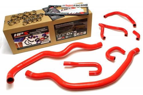 HPS Honda 06-09 S2000 High Temp Reinforced Silicone Radiator and Heater Hose Kit Coolant OEM Replacement - Red