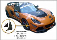 Load image into Gallery viewer, Reverie Carbon Fibre Bumper Canards for Lotus Exige S3 V6 Track / OEM replacement, lower small