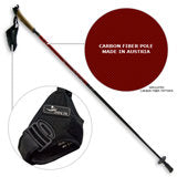 Sport Nordic Walking Poles (Pair) - Fixed Length WITH SPIKED TIPS