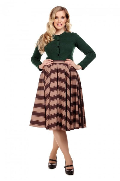 Milla Beetle Stripe Swing Skirt