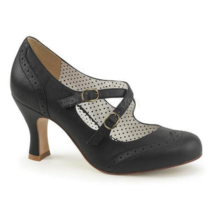 Flapper-35 Kitten Heels - Black