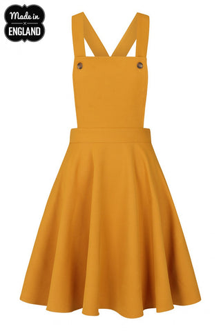 Amelie Pinafore Dress - Mustard
