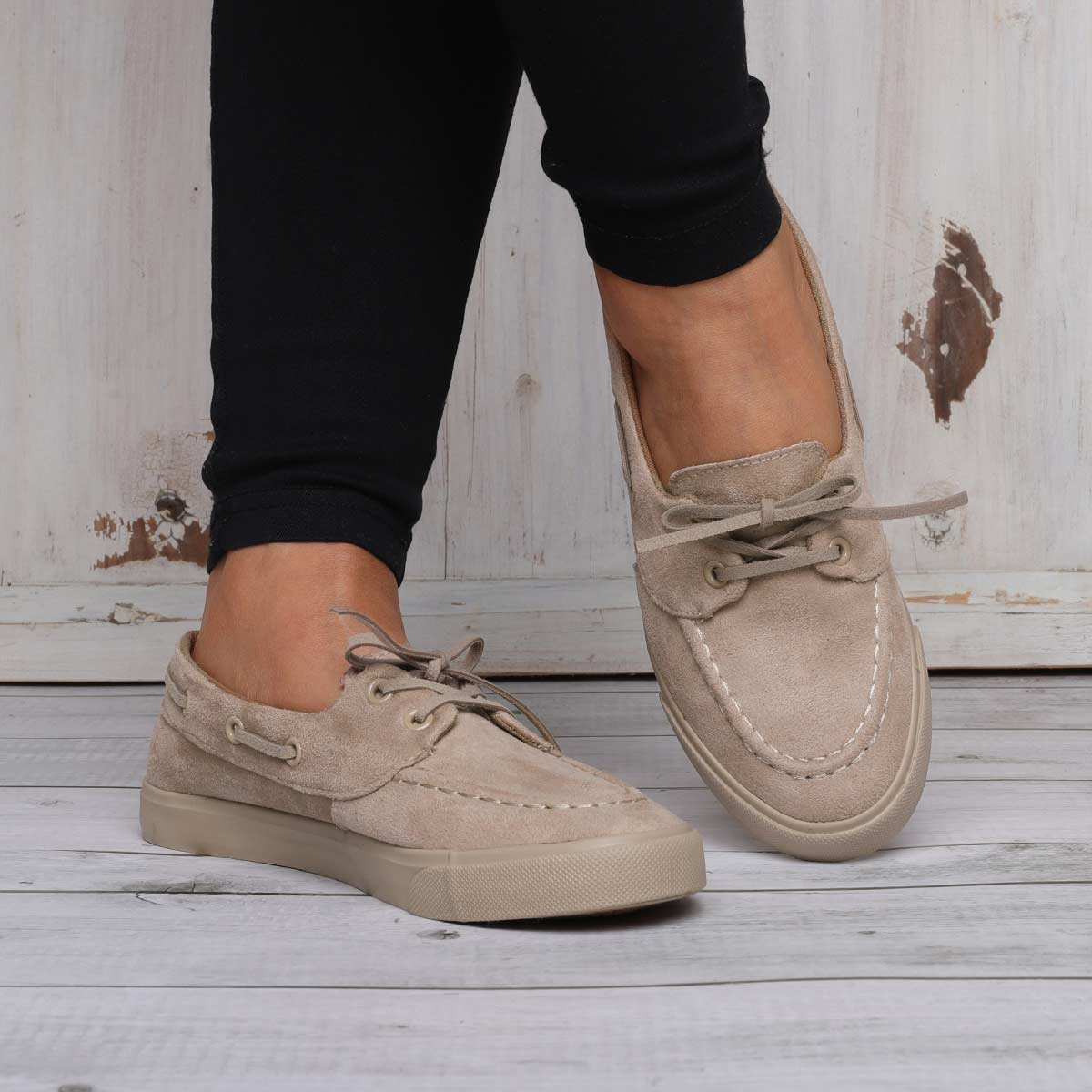 Women Lace-up Loafers All-match Casual Flat Shoes