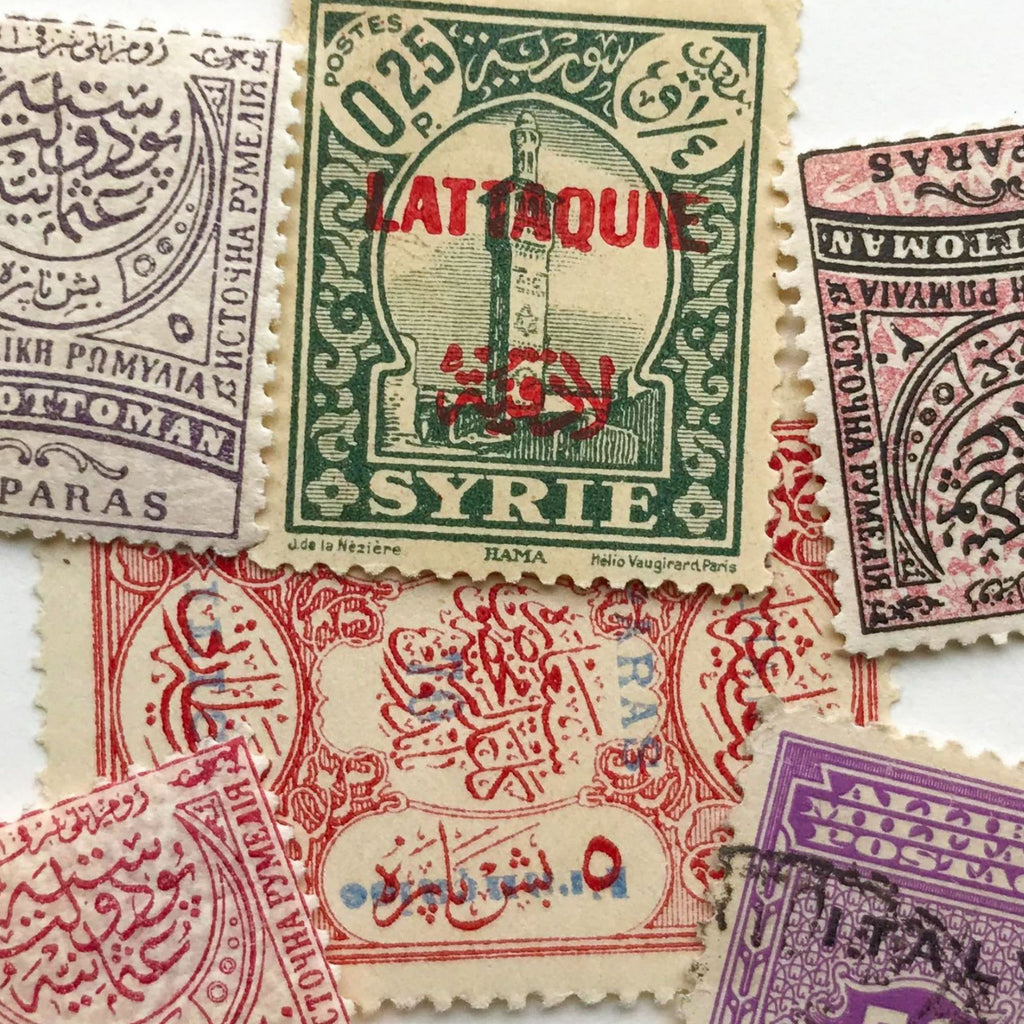 An assortment of international stamps