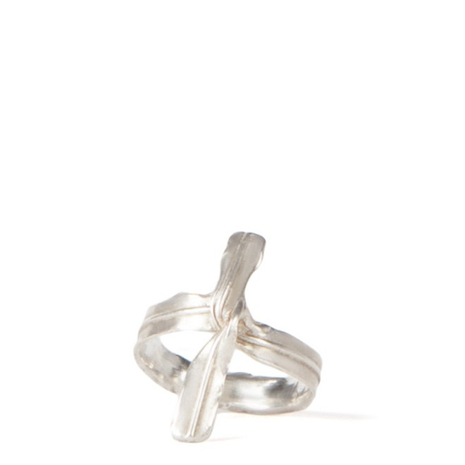 Silver Twist Tie Ring