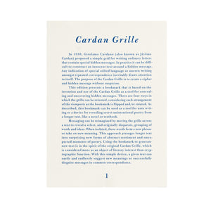 Special Special Edition Cardan Grille Bookmark