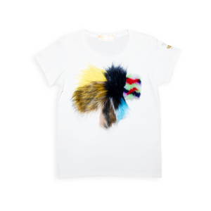 White T-Shirt x Fur